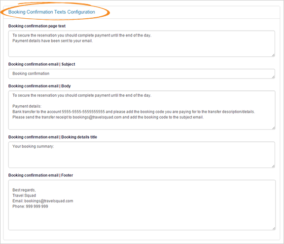 – Confirmation Support Page 6 Text And Customize Tts Texts Email The